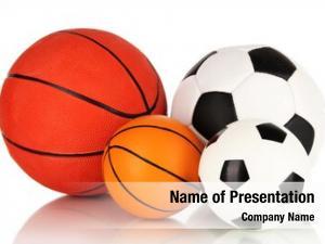 White sport balls,