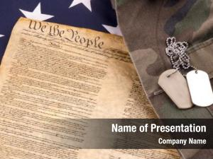 American military dogtags flag constitution