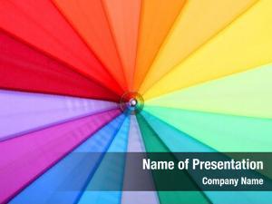 rainbow umbrella closeup