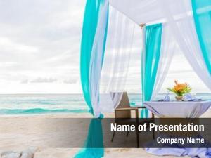 Set wedding arch beach, tropical