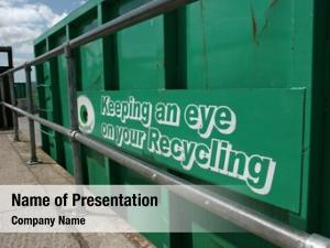 Recycling green metal container