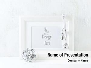 Silver white frame christmas decorations