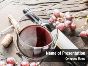 Wine wine glass, bottle grapes