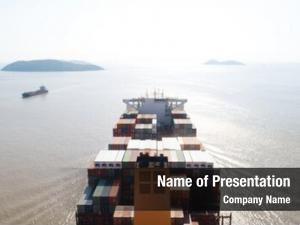 View aerial top container cargo