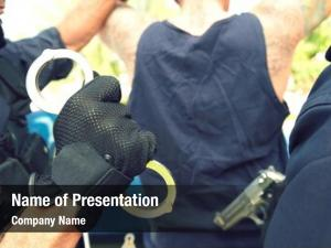 Arresting cropped policemen criminal