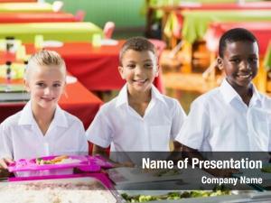 Kids portrait school having lunch