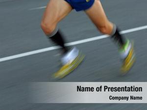 Legs marathon runner road followed