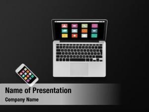 Concept multimedia technology laptop computer