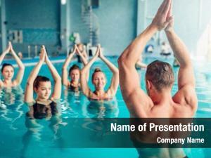 Aqua aerobics in water