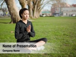 Woman beautiful black doing yoga