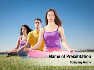 People group young have meditation