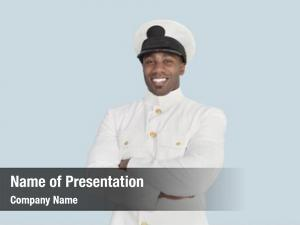 Young portrait happy navy officer