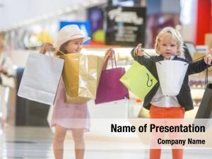 Girl cute little boy shopping