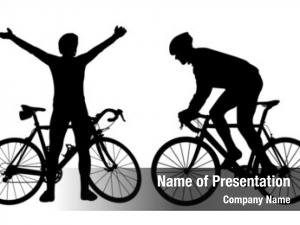 Cyclist silhouettes