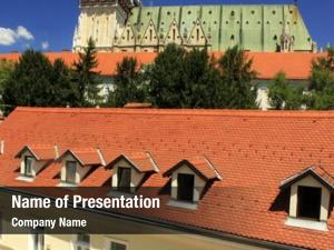 Tiles roof powerpoint background