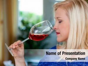 Wine young woman tasting
