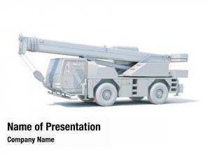 Crane truck mounted white, construction