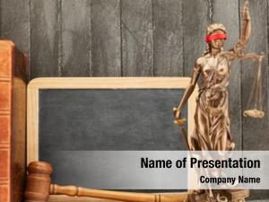 Empty justitia front blackboard judge