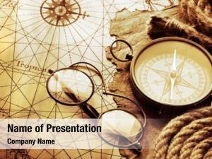 Antique compass glasses map