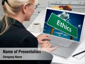 Using woman kitchen laptop ethics