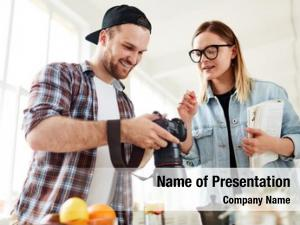Food photographer and food stylist powerpoint template