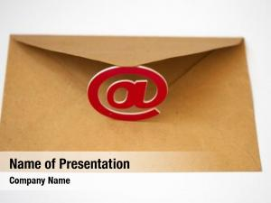 Business email symbol letters concept