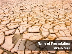 Environmental cracks dry soil