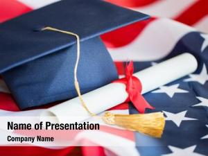 Patriotism education, graduation, nationalism concept