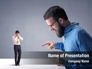 Businessman young professional being angry