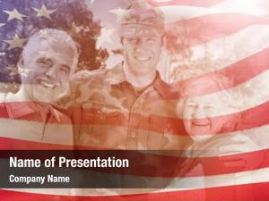Man portrait army parents against