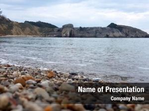 Sea stony beach