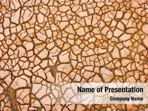 Climate change cracks dry soil