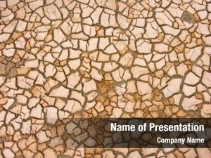 Climate cracks dry soil