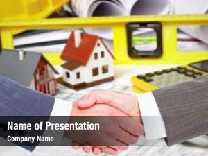 Agent construction company handshake client