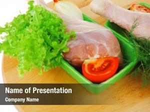 Chicken fresh raw drumstick green