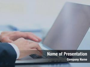 Modern person typing laptop