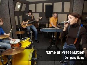 Working rock band studio