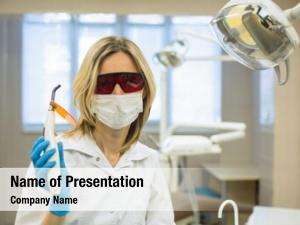 Doctor female dentist safety glasses