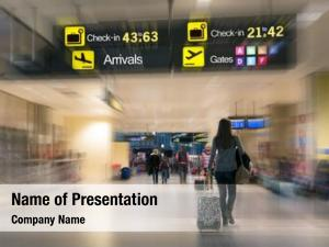 Inside airline passengers airport