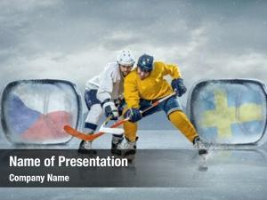 Players ice hockey ice