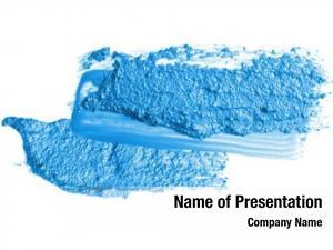 Blue abstract acrylic brush stroke