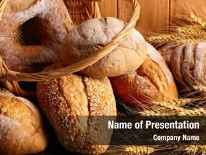 Wheat whole grain bread basket