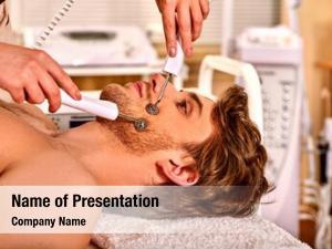 Man facial massage