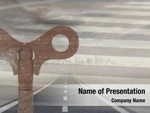 Rustic digital composite key over