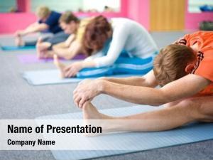 Yoga people practicing health club