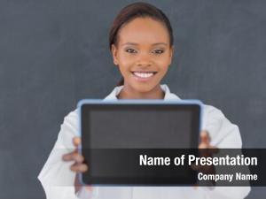 Ebook teacher holding classroom