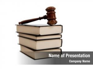 Books stack legal wooden gavel