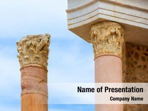 Cartagena ancient columns roman amphitheater