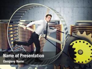 Run businessman man inside hamster