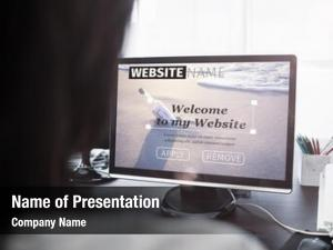 Website composite build interface against